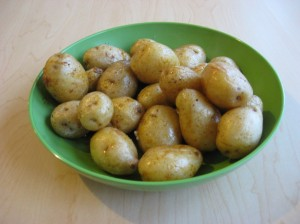 baby potatos