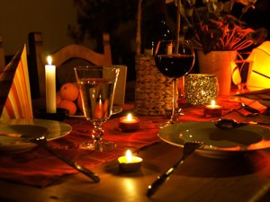 candle lit dinner